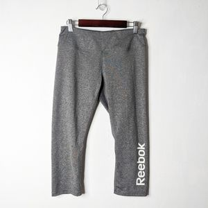 Reebok Spellout Capri Leggings Workout Pants
